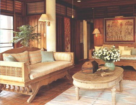 Thai style home interior design