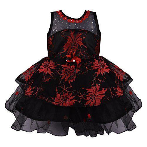 Wish Karo Baby Girls Party Wear Frock Dress DN Fe2160rd-3-4 Yrs