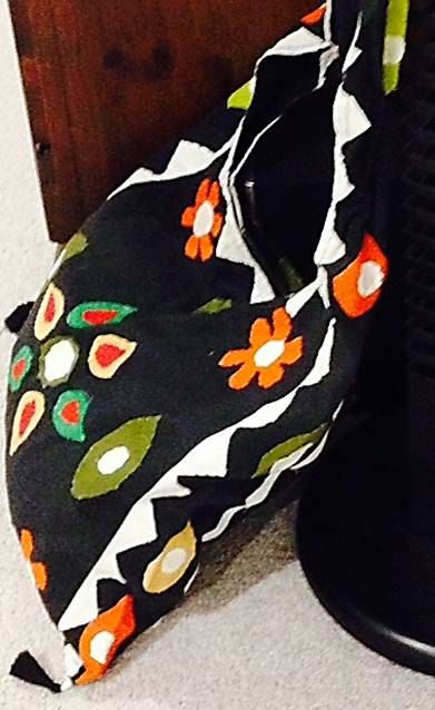 VINTAGE SHOULDER TOTE bag with bold coloured by WondrousCreation