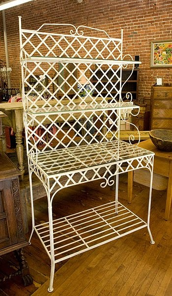 Bakers Rack Ideas Repurposed Outside