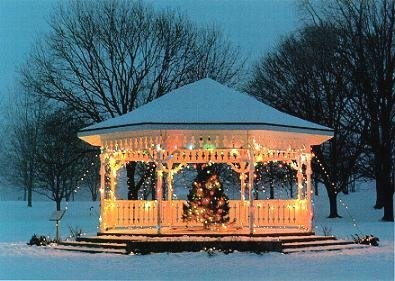 The Warvel Park Gazebo Was Decorated For Christmas North