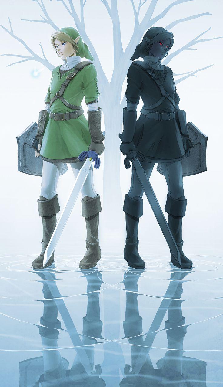 The Legend of Zelda: Ocarina of Time / Link and Dark Link ...