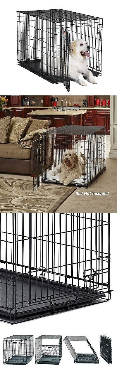 Cages and Crates 121851: Midwest Icrate Folding Metal Dog Crate Single Door 48-Inch W/Divider New BUY IT NOW ONLY: $57.61