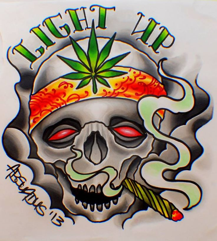 weed tattoo art | Awesome Weed Designs Smoke de weed till ...