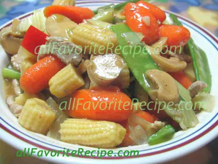 PORK CHOP SUEY Pork chop suey is a Chinese dish primarily made up of mixed vegetable with meat like chicken, fish, beef, shrimp or pork, ad...