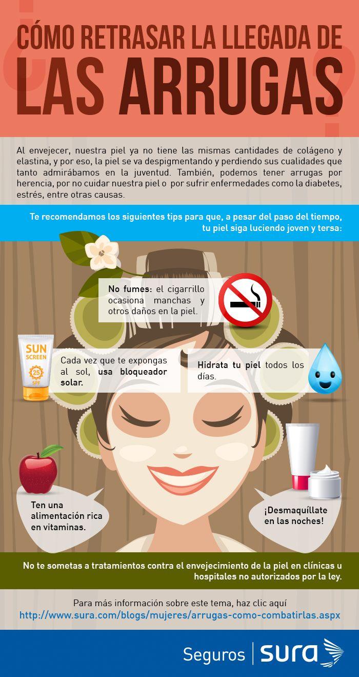 Conoce tips para evitar el envejecimiento de la piel: http://www.sura.com/blogs/mujeres/arrugas-como-combatirlas.aspx