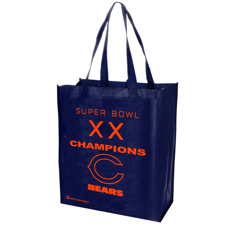 Chicago Bears Super Bowl XX Champions Commemorative Printed Reusable Bag - $2.39
