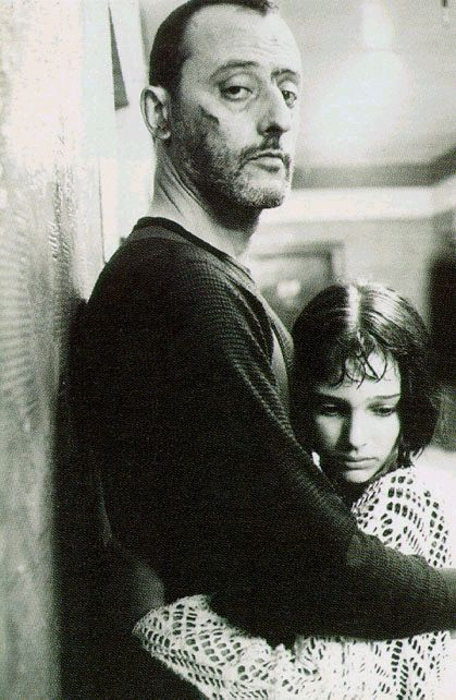 Jean Reno and very young Natalie Portman in Luc Besson's Léon: The Professional.