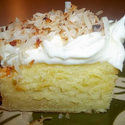 Cream Cheese Coconut Cake ~ Boy Meets Bowl