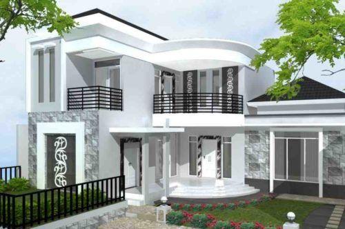 Desain Rumah Minimalis Warna Putih Elegan