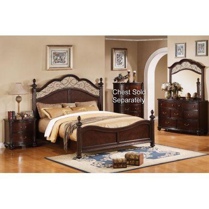 Wonderful 6PC83400 BEDROOM50 International Furniture 6 Piece Queen Bedroom Set