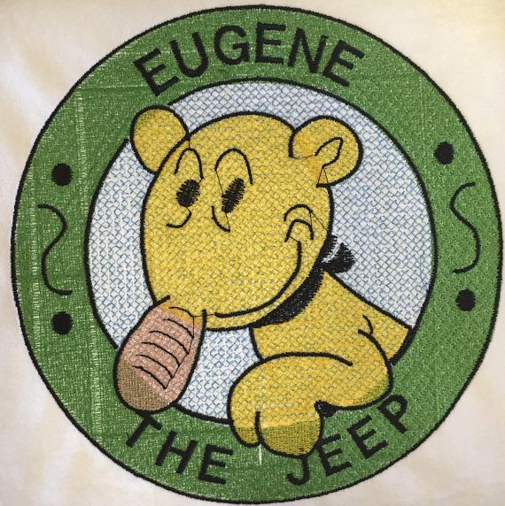 This is a T-Shirt with Eugene The Jeep design embroidered on it. This t-shirt can be ordered any size from Large to 3XLarge in men's and women's sizes. Other sizes and colors can be ordered but may take longer if the shirt is not in stock • My Shop Sells Custom Embroidered Items. I