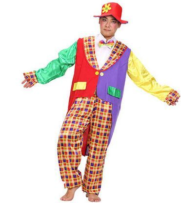 clown costumes funny costumes halloween party clothes masquerade party clothes clown suit cosplay clothing