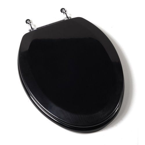 black and white toilet seat. Comfort Seats C1B4E2 90CH Deluxe Molded Elongated Wood Toilet Seat in Black  with Chrome Hinges Best 25 toilet seats ideas on Pinterest home