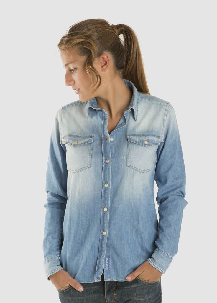 #North #Sails #Official #Eshop #Woman #Collection #Fall #Winter #2014 #2015 #Denim #shirt #collezione #autunno #inverno #donna #camicia #jeans