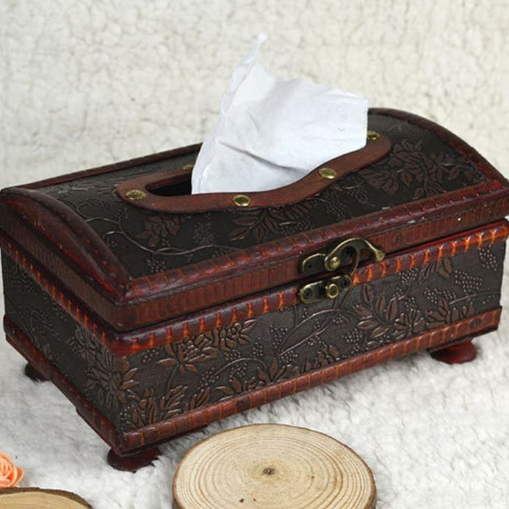 retro wooden tissue storage box/Chinese traditional storage boxes with metal lock storage tools #Affiliate