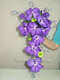 Vanda orchids. Unique bridal bouquet. Interesting