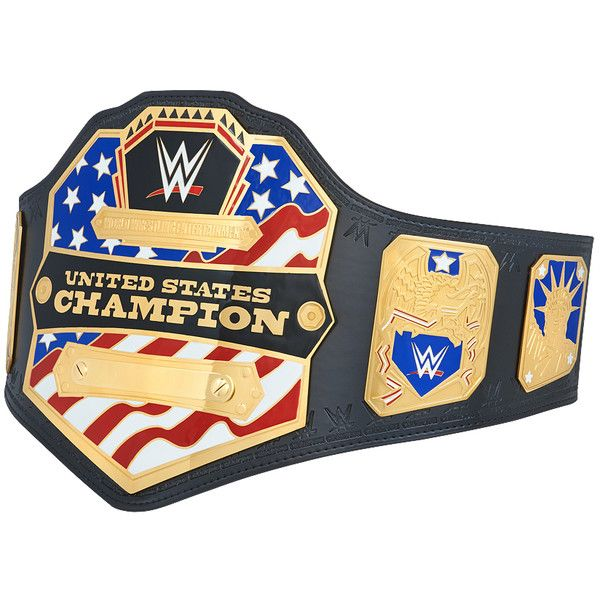 WWE United States Championship Replica Title Belt (2014) ❤ liked on Polyvore featuring accessories, belts, genuine leather belt, real leather belts, fake leather belt, fake belts and leather strap belt