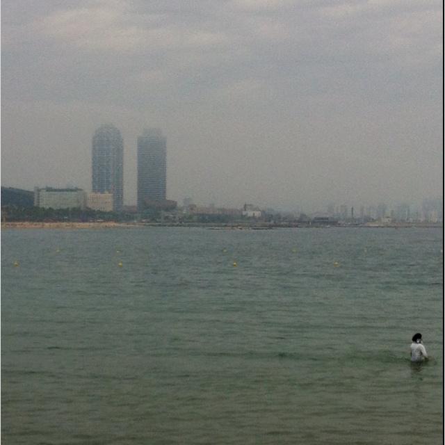 El mar, les torres.