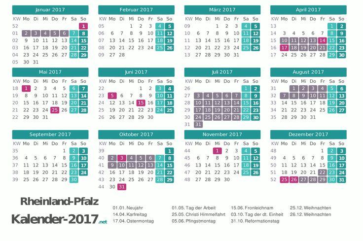 Ferienkalender 2017 für Rheinland-Pfalz http://www.kalender-2017.net/ferien-rheinland-pfalz/
