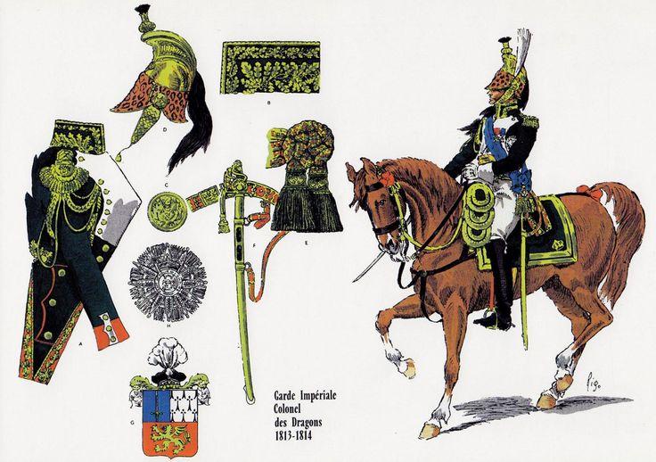 Philippe Antoine d'ORNANO, Colonel des Dragons de la Garde 1813-1814