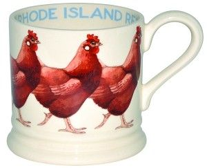 Dutch delight!  Rhode Island Red baby mug