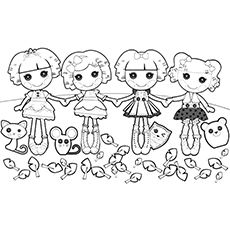 17 best images about colouring pages for the kids on for Lalaloopsy littles coloring pages