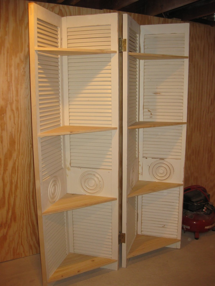 24 best recycle louvered closet doors images on Pinterest  Good ideas Home ideas and Shutter