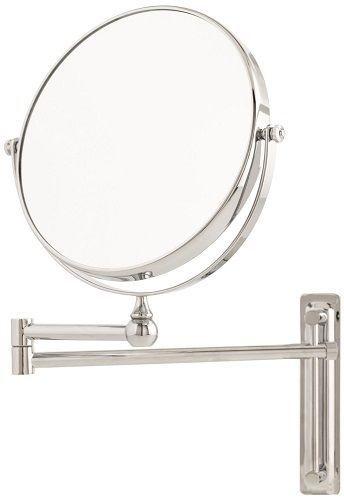 Adjustable Round Wall Mounted Bathroom Magnifying Mirror Makeup Shaving Swivels