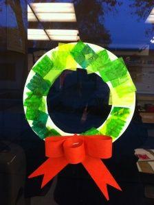 Christmas wreath for preschoolers