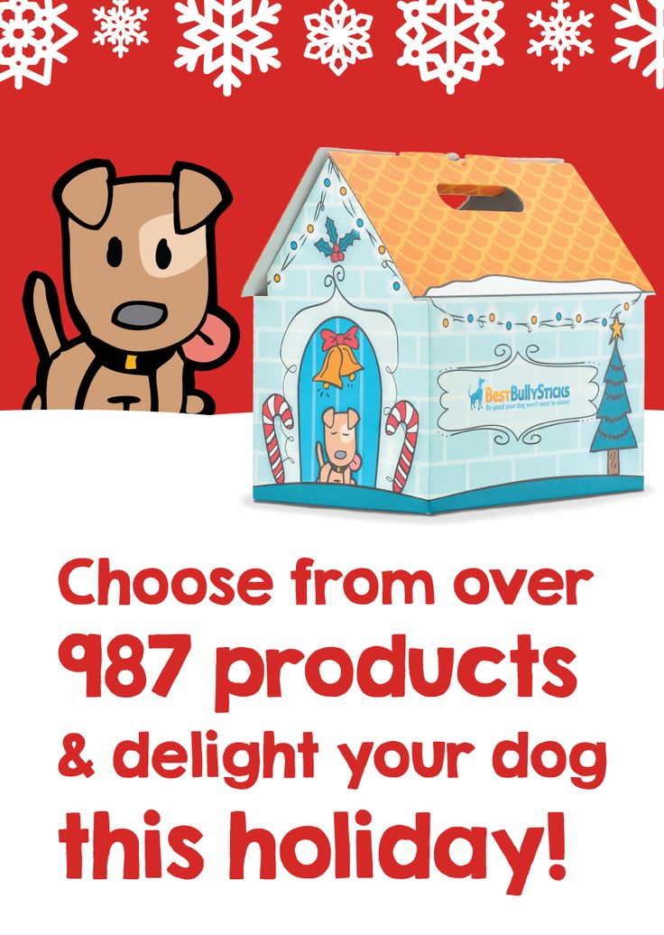 *Available for a Limited Time*  Fill the Holiday Box with your dog's favorite natural dog treats like bully sticks, cow ears and more!
