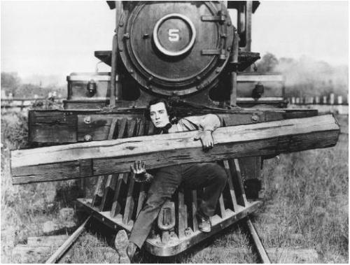 La mécano de la Général - 1926 - Échec au box-office, aujourd'hui reconnu comme film remarquable. En 1963, Buster Keaton (1895-1966) se retrouvera sur un chemin de fer pour un document sur le Canadien pacifique ou il fera de multiples clins d'oeil au Mécano de la Général.
