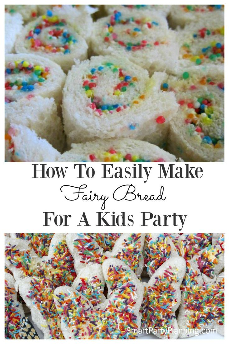 Fairy bread is an easy food that can be prepared for a kid's party. It is incredibly easy to organize, the kids love it, and it will be a hit party food. This is a total win win when it comes to catering for children's birthday parties.