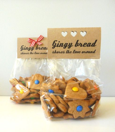 Gingy Label (folded business card)