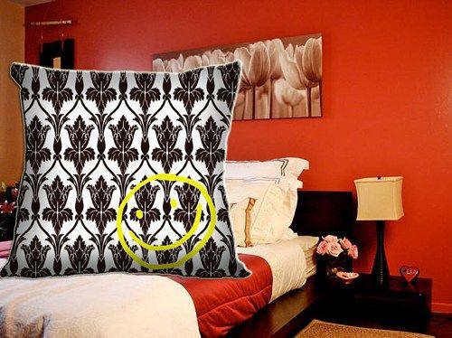 "Sherlock Holmes Smile Damask Custom Pillow Case 18""x18"""