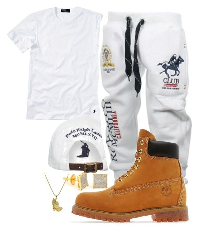 """""""Yo Gotti- Law"""" by young-rich-nvgga ❤ liked on Polyvore featuring Polo Ralph Lauren, Timberland, Roial, men's fashion and menswear"""