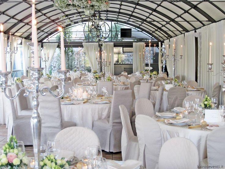 Sala da pranzo raffinata.  Wedding designer & planner Monia Re - www.moniare.com | Organizzazione e pianificazione Kairòs Eventi -www.kairoseventi.it | Foto Oscar Bernelli