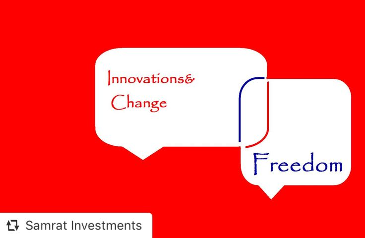 To experience the Innovation& Freedom. Change is you, be the Change. Explore Samrat Investments 👆🏻