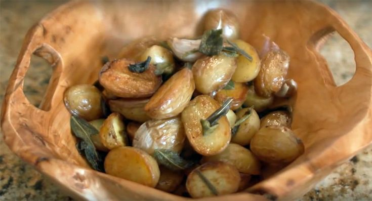 Jet Tila's Roasted Potatoes with Sage in Duck Fat