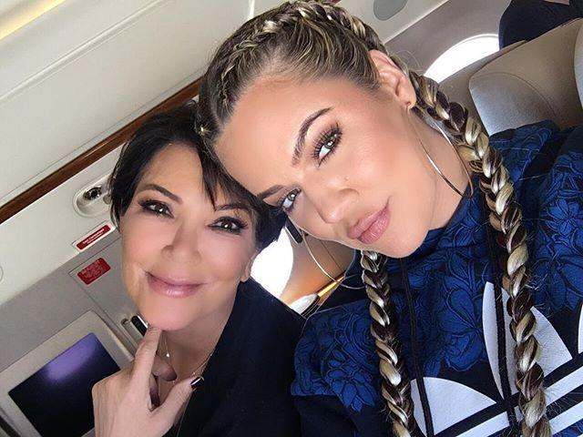 Pin for Later: Stars Celebrate Mother's Day Weekend With Their Loved Ones Khloé Kardashian