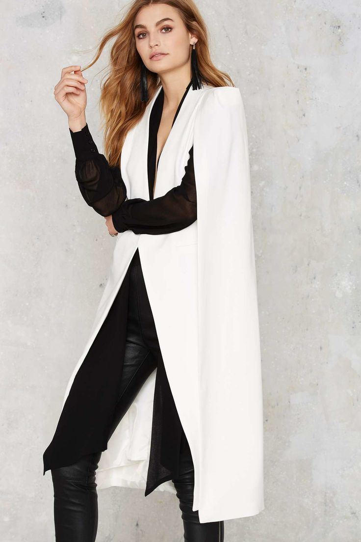 Lavish alice On The Fly Cape Jacket - Snow White in White | Lyst