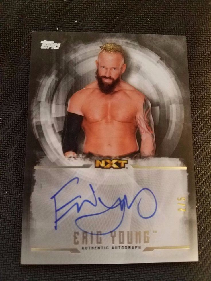 Wrestling Cards 183435: 2017 Topps Wwe Undisputed Autographed Card #Ua-Ey - Eric Young #2 5 -> BUY IT NOW ONLY: $45 on eBay!