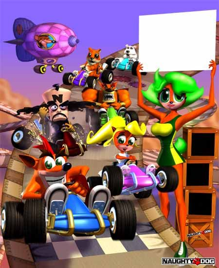 Crash Team Racing crash bandicoot pura coco ripper roo