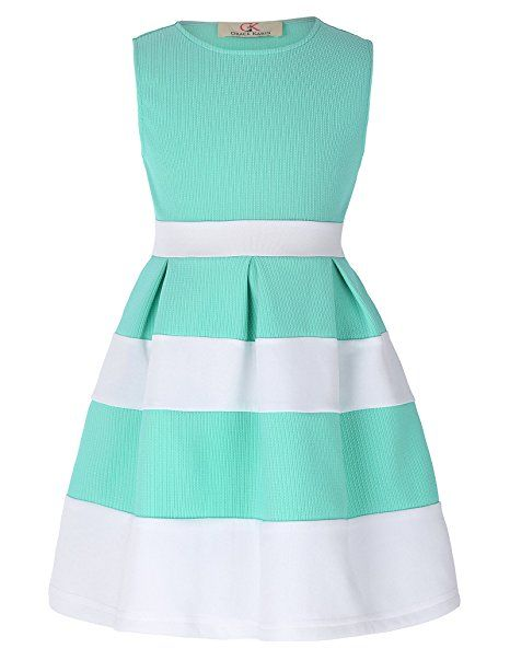 GRACE KARIN GRACE KARIN Aermellos A-linie Prinzessin Maedchen Kleid ...