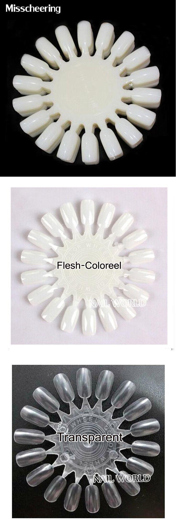[Visit to Buy] False Nail Tips Display 10pcs/pack Natural White&Clear Acrylic Nail Color Chart Nail Polish Practice Wheel,Nail Tools Supplies #Advertisement