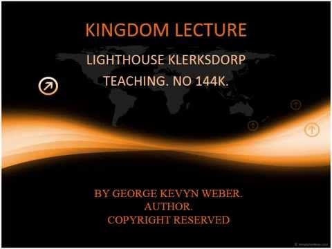 KINGDOM DISCIPLESHIP LECTURE - 144K THE FIRST AND THE LAST. http://www.lighthouseklerksdorp.co.za/Lighthouse_Cape_Town.html OR e-mail lighthousecapetown@gmail.com