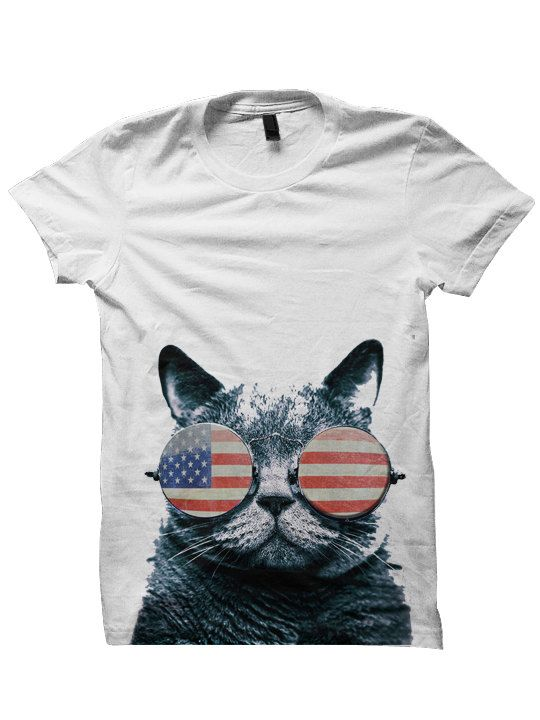 fourth of july cat shirt