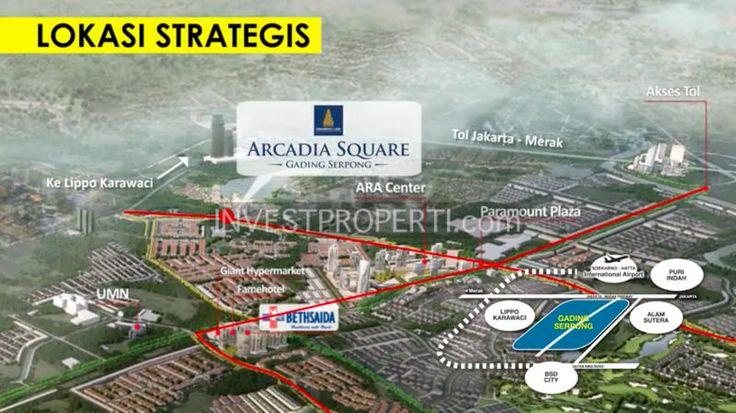 Peta Lokasi Arcadia Square Serpong.