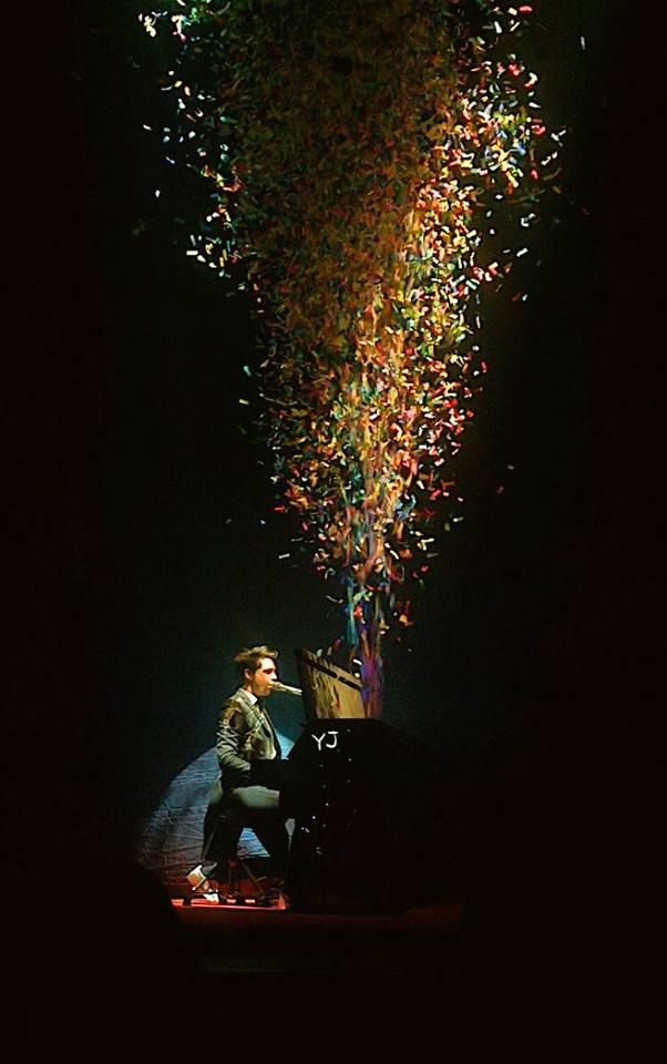 another gorgeous shot of MIKA that encapsulates his flamboyant stage presence and contagious music