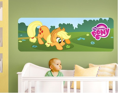 My Little Pony   Applejack And A Little Frog Panorama (wall Mural) Part 50
